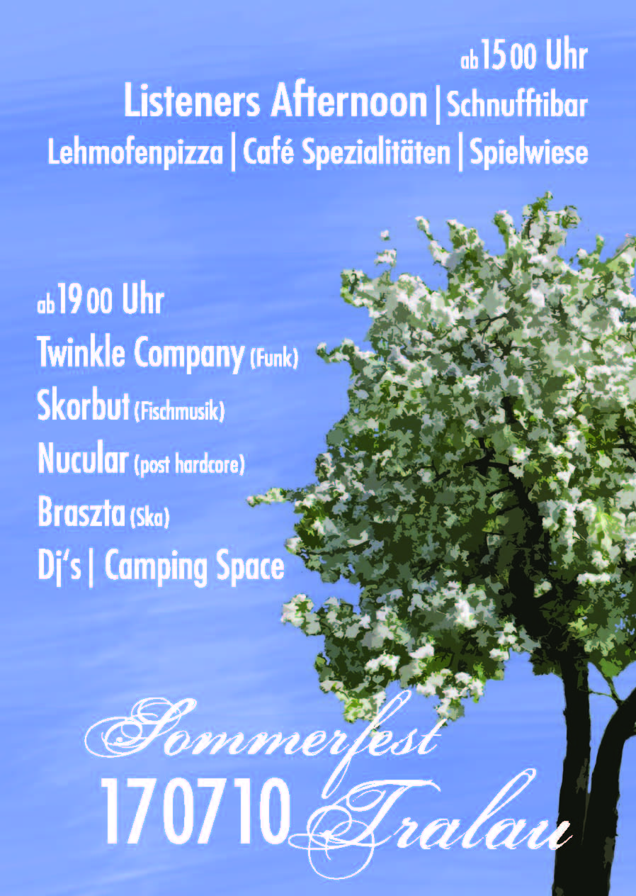 Tralau Sommerfest Flyer